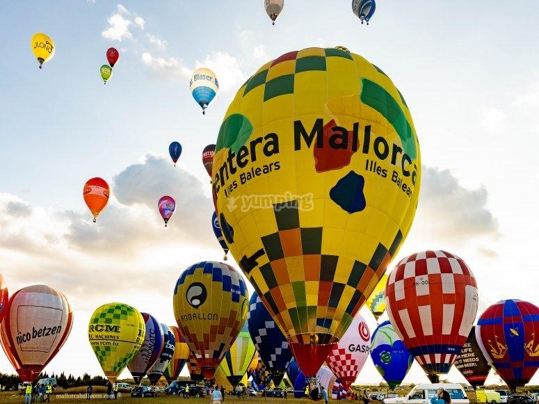 Festival de globos en Mallorca