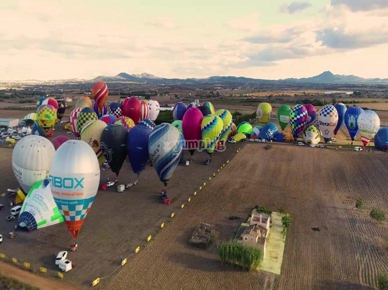 Concentración de globos