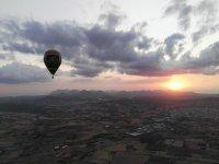 Flying over Majorca at dawn