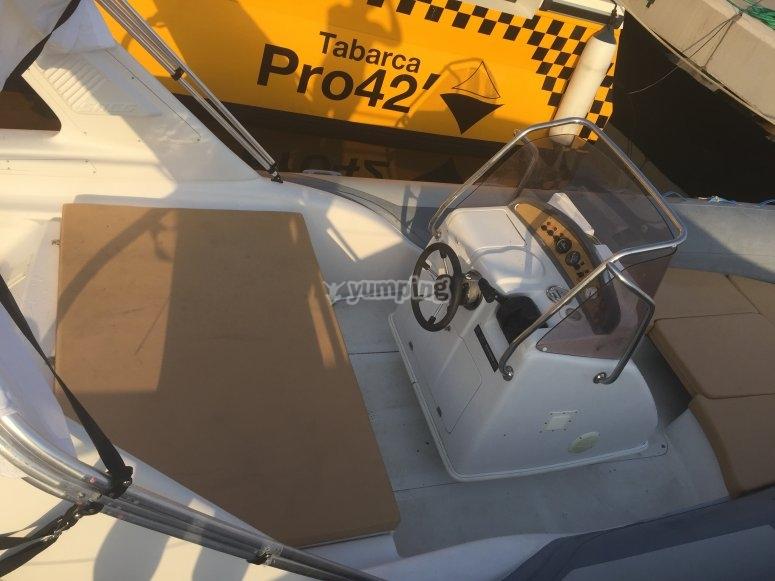 船舵和座椅