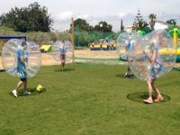 soccer and zorbing