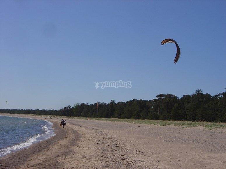 飞行风筝冲浪