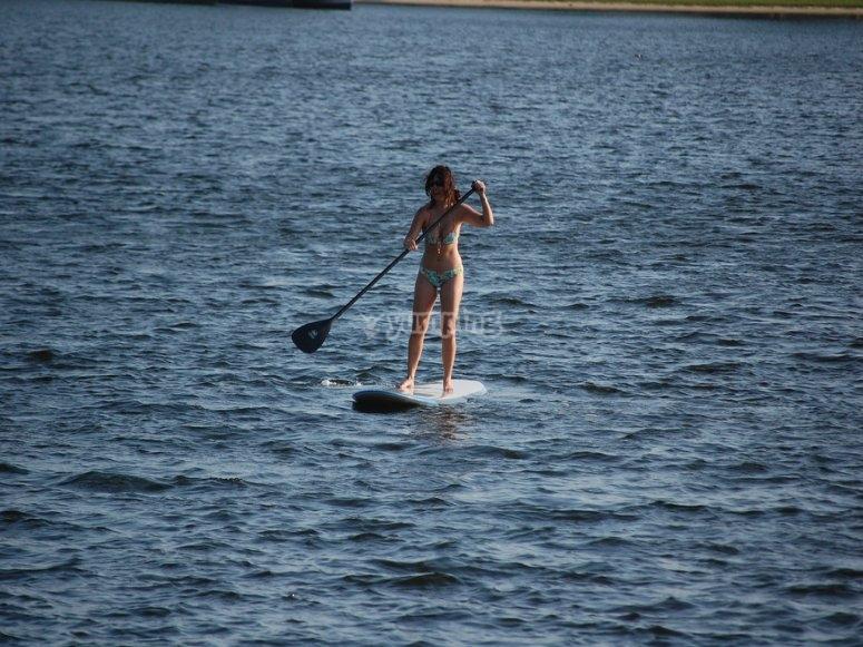 Probando el Stand up Paddle