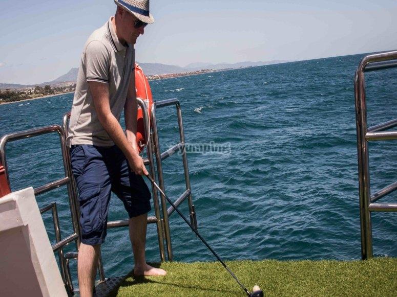 Opción de golf en el mar