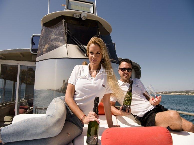 Solarium in barca