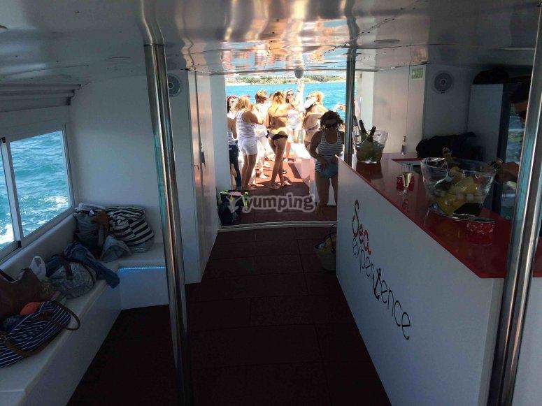 Interni dalla barca