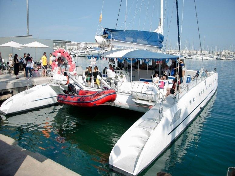 Catamarán para boat party