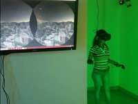 Screen with virtual reality game
