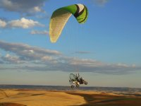 Para-trike in the air