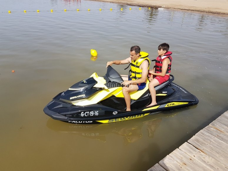 Jet ski at the dock