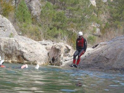 在Ventano del Diablo和宿舍溪降