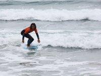 Aprendiendo a surfear en Barreiros