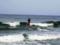 Kitecenter标志海到Medano冲浪的人在冲浪桨小屋