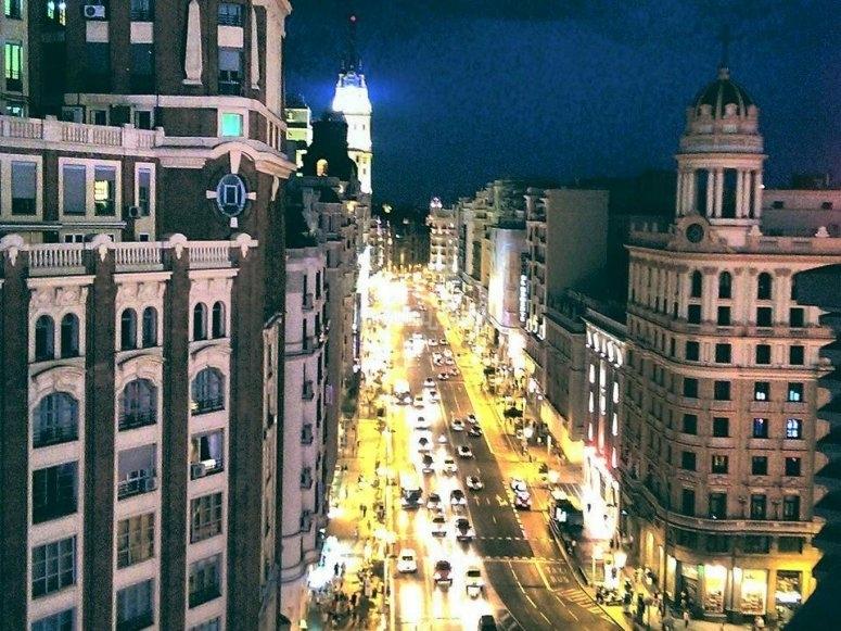 Calles de Madrid por la noche