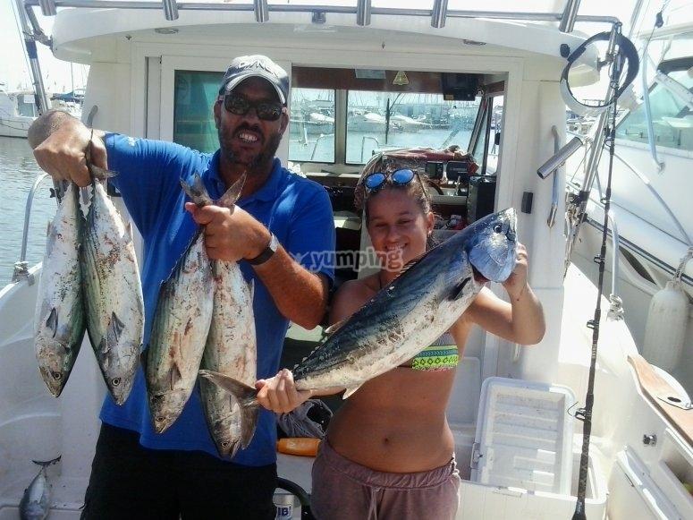 Pescando en Cambrils