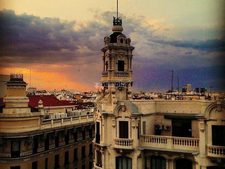 Atardecer sobre Madrid