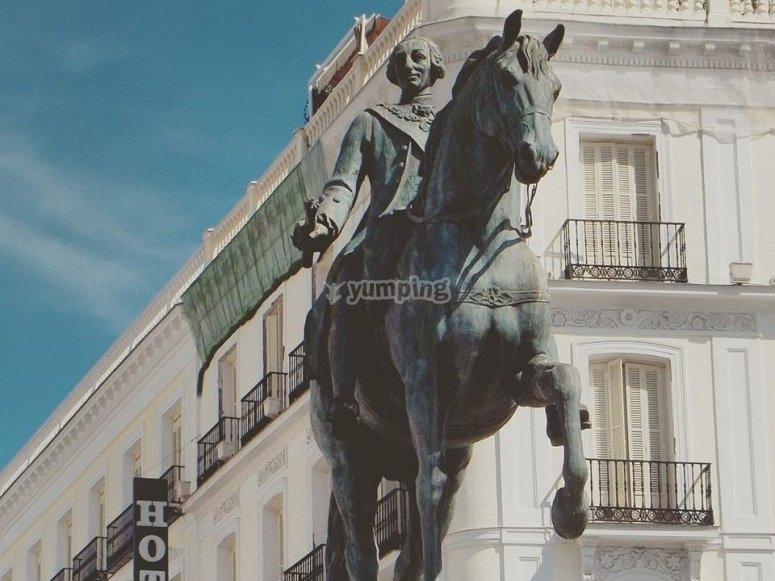 Vistas de la estatua
