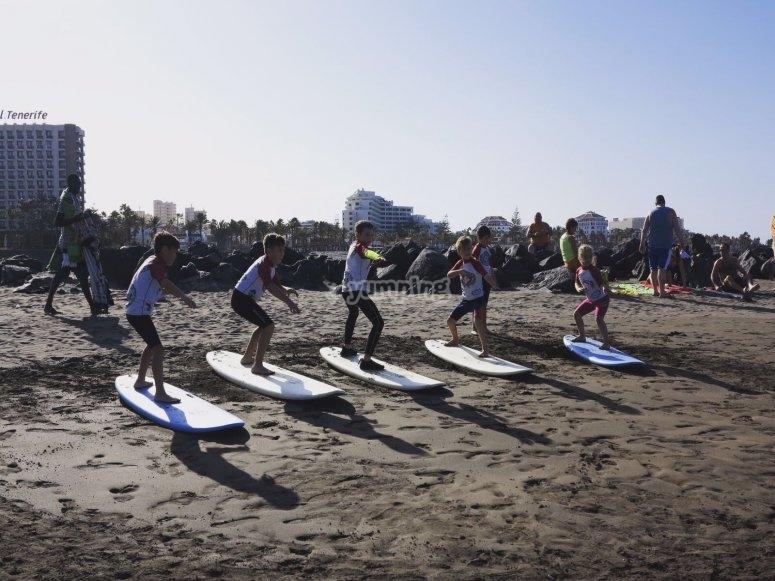 练习在沙滩上