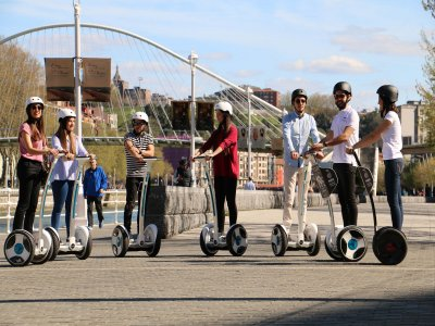 1-hour segway trip in Bilbao + lesson