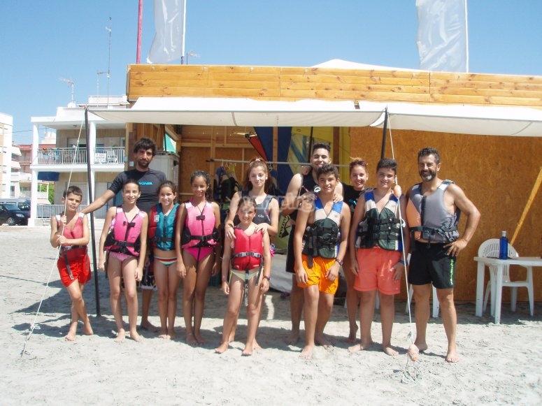 Studenti di windsurf