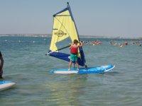 Sulla tavola da windsurf