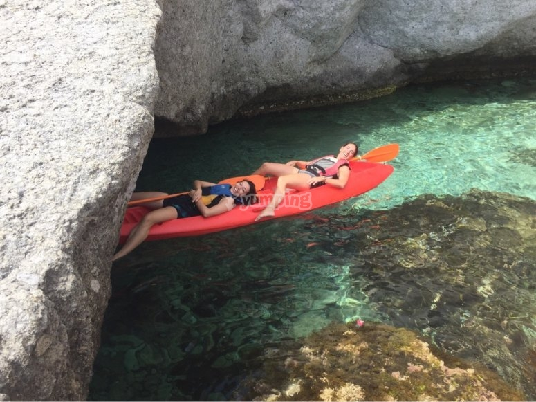 tunel en el agua, cala enmedio