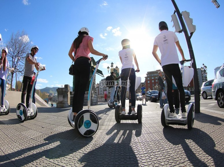 Try the experience of driving a segway