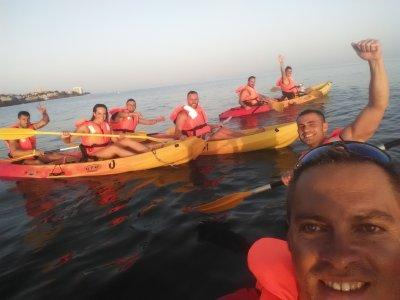 Kayak paddle surf y volley playa en Benalmádena