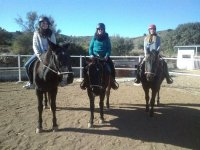 Girls on the horse track