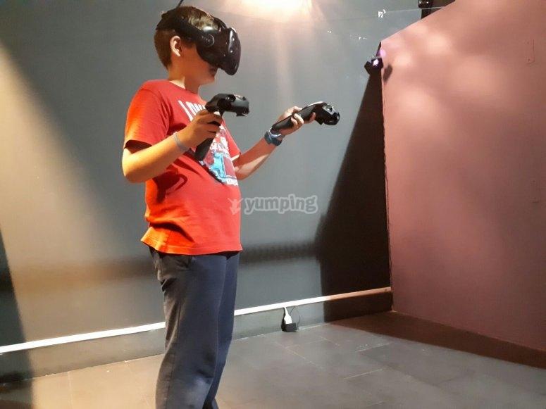 With two joysticks
