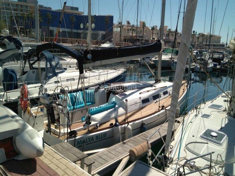 Dufour 40 sailing boat