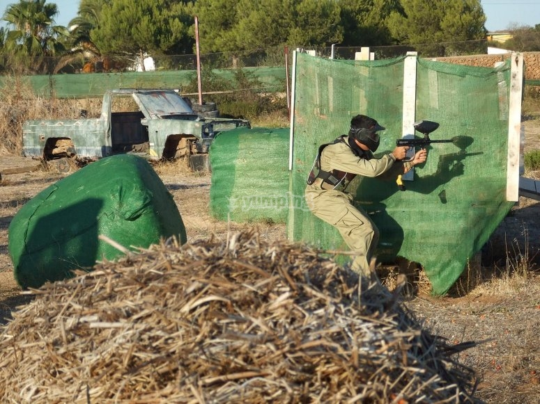 Partida de paintball en Menorca