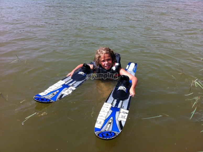 After waterskiing