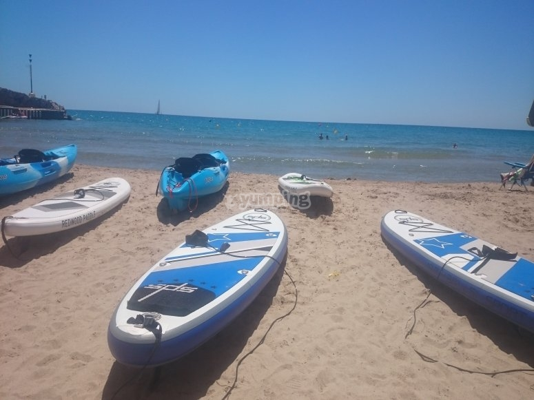 Our surfboards and kayaks