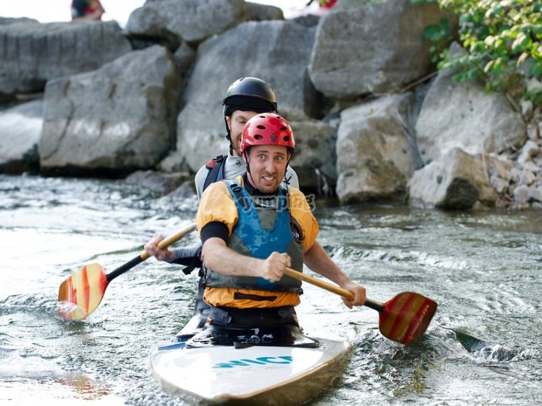 Emocion en el kayak