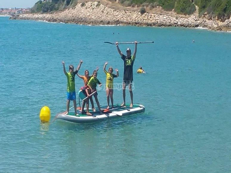 Prima Rent a XXL paddleboard in Tarragona for 1 hour - Deals in en QJ-56