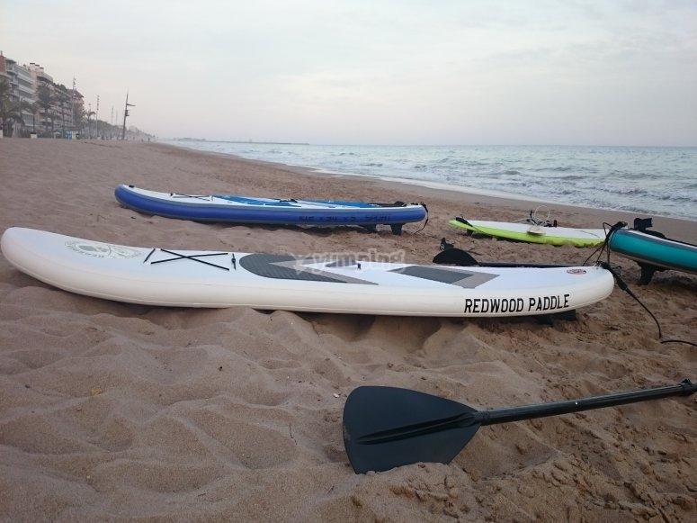 tablas de paddle surf.