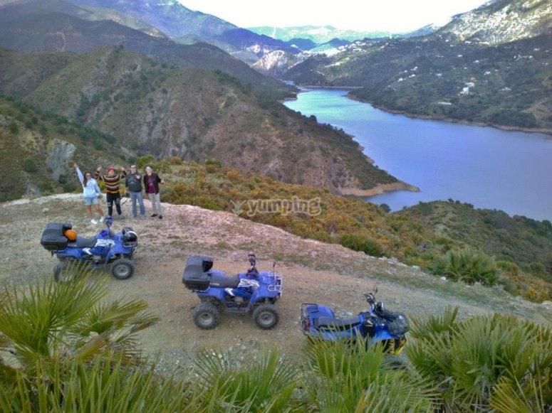 Panorámica de la Serranía de Ronda desde el quad