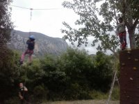 Zip line and climbing