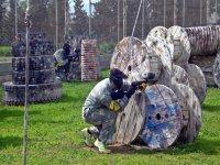 en el campo de combate