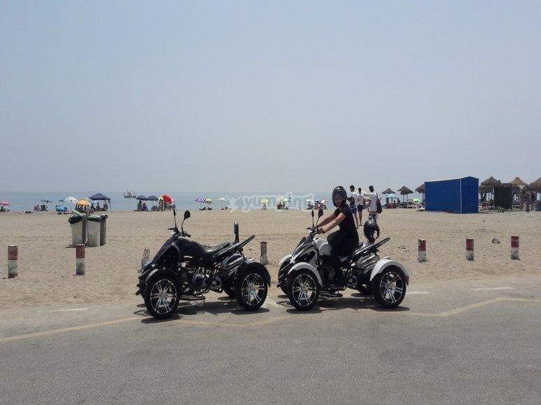 Spyders junto a la playa