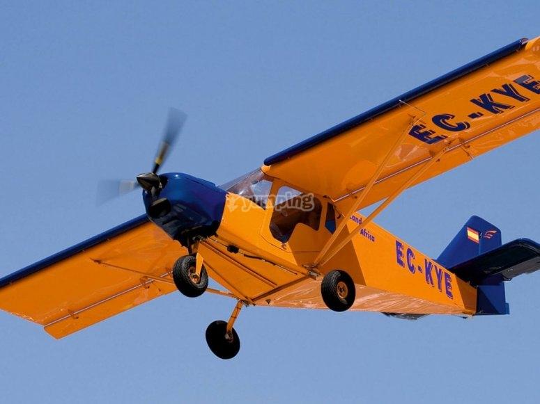 Foto durante il volo