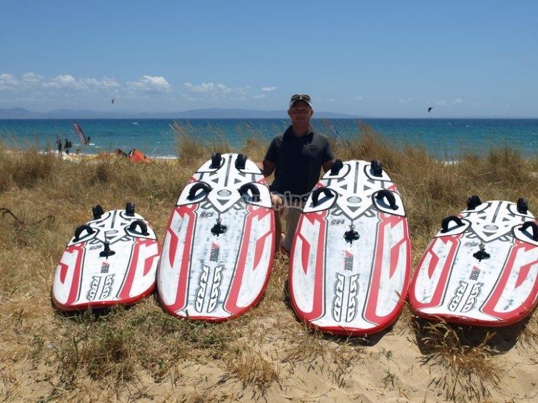 Con las tablas de paddle surf