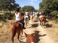 Riding a horse in Segovia