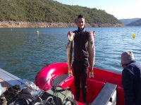 Rent a 10HP fishing boat in Ponts for 8h