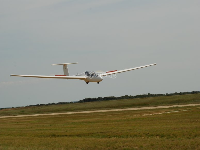 Landing with the glider