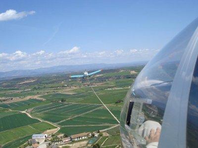 Glider flight baptism Santa Cilia, video 30 min