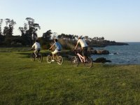 Riding the bike by the beach