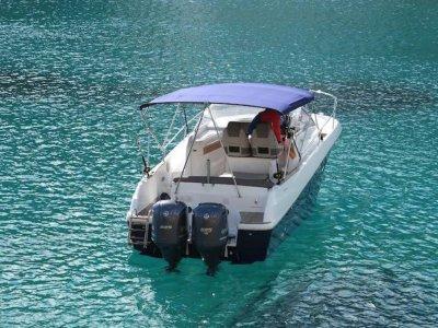Despedida en barco en Ibiza un día temporada baja