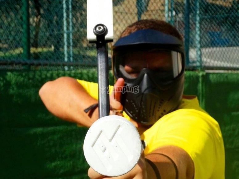 Equipamiento de archery tag